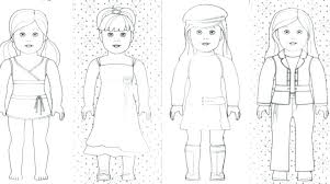 Free Printable American Girl Doll Coloring Pages Feat Coloring