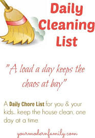 Daily Cleaning List For You For Your Kids Your Modern Family
