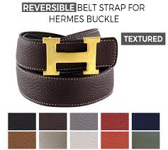 Reversible Textured Belt Strap Replacement For Hermes Buckle Belt Kits La Petite Croisette