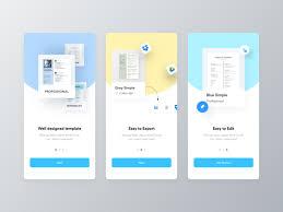 Ezy Cv Builder App Walkthrough By Ofspace Team On Dribbble