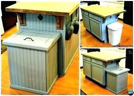 kitchen garbage pails indoor cans can storage wooden trash wood bin hen