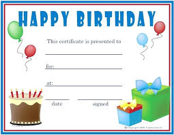 free happy birthday printable gift voucher template certificate microsoft word