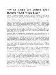 how do single sex schools effect students young people essay how do single sex schools effect students young people essay gender role psychology cognitive science