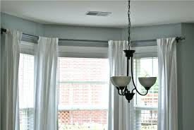 bay window curtain rod ceiling mount