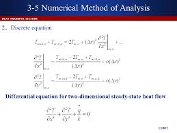 diffeial equation for two dimensional steady state heat flow