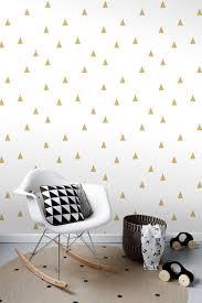 Bolcom Estahome Behang Grafische Driehoeken Glanzend Goud En Wit