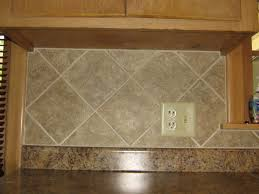Ceramic Tile Designs Kitchen Backsplashes Simple 4x4 Ceramic Tile Kitchen Backsplash On Diagonal