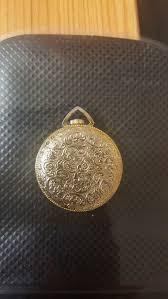 vintage gold tone lucerne pendant watch