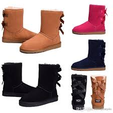 winter uggs ugglis classic snow boots high quality wgg tall boots real leather bailey bowknot women s