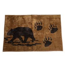 bear paws bathroom rug