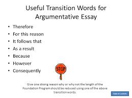 Transitional Words For Argumentative Essay Persuasive Essay Transition Words Major Magdalene Project Org