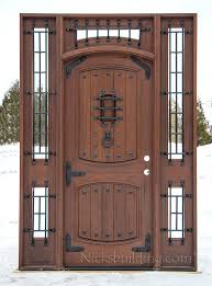 rustic teak castle door