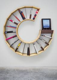 circular furniture. Delightful Furniture For Interior Wall Decoration With Various Circular Bookshelf : Archaic Home E