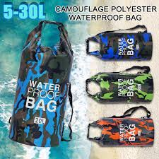 PVC <b>Waterproof Dry</b> Bag 5L/10L/<b>15L</b>/20L/30L Camo <b>Outdoor</b> Diving ...