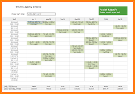 7 Staff Schedule Templates Phoenix Officeaz