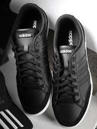 adidas men black caflaire leather tennis shoes sports shoes for men 6841638 myntra