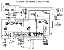 1996 yamaha tdm850 wiring diagram and electrical system