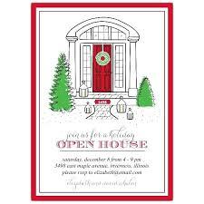 Open House Invitations Festive Front Door Templates