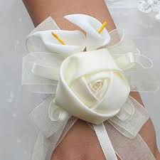 Heb Corsages Handmade 2piece Lot Ivory Wedding Corsages Boutonniere Groom
