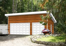 Whether in the city or countryside, this modern garage package or kit will  complement almost any home or vacation property. Its sloped roofline gives  the ...