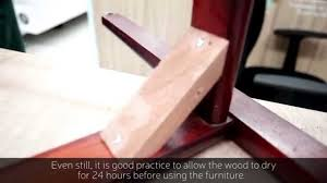 furniture joints. how to strengthen wooden joints of furniture at home - repair kopitiam youtube