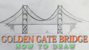 architectural drawings of bridges. San Francisco Bridge Drawing How To Draw The Golden Gate Easy - Landmark Architectural Drawings Of Bridges N