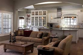Attractive Open Kitchen Living Room Design And