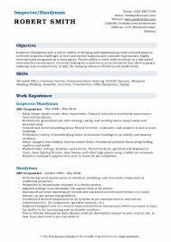 Cv format pick the right format for your situation. Handyman Resume Samples Qwikresume