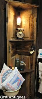 corner shelf made with an old door corner door shelf