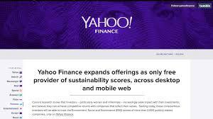 Yahoo Stock Charts Free Yahoo Finance Adds Sustainability Scores To Online Platform