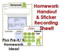 Preschool Frog Homework Handout Ideas Sticker Recording Sheet