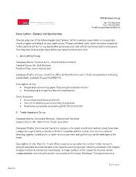 Good Job Template Professional Cover Letter Template