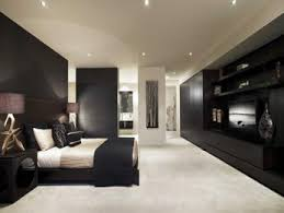 Bedroom Designs Ideas modern bedroom design idea with wood panelling built in shelving using beige colours