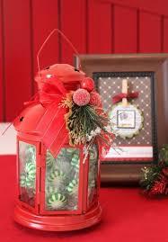 2013 Christmas candy jar table decor, Christmas phonebooth look candy jar  #2013 #christmas