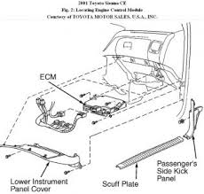 2001 toyota sienna codes p0440 0441 and 0446 engine mechanical dtc p0440 evaporative emission control system or dtc p0442 evap leak detected caution if engine control module ecm replacement is instructed in