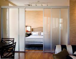 sliding glass room dividers with silver frame finish