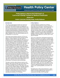 Medicare Low Income Subsidy Chart Policy Options To Improve The Performance Of Low Income