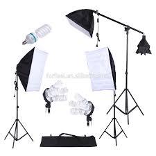 Photo Studio Lighting Kit Ebay Photography Studio Light Kit 45w 135w Bulb Cantilever 3pcs Softbox Tripod Stand With Oxford Bag Photographic Equipment Buy Photographic