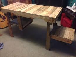 pallet furniture desk. Pallet Furniture Desk. Diy Wooden Desk Wood And Storage Cubby   N K