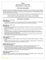 Sample Resume For Restaurant Manager Sample Employment Certificate For Restaurant Manager Best Of Best S 24