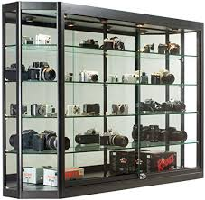 display cabinet with locking sliding glass doors
