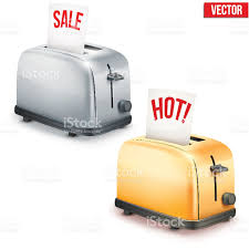 Retro Toasters set of bright retro toasters with message sale and hot stock 7182 by xevi.us