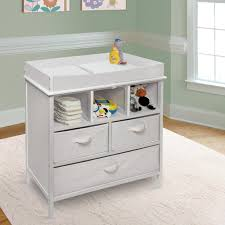 White Color Modern Baby Changing Table With Doll Towel And Toy .
