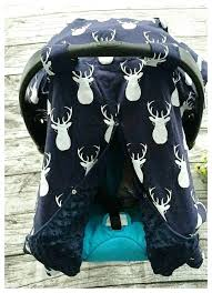 baby boy car seat covers baby boy car seat cover white deer and blue baby gift baby boy car seat covers
