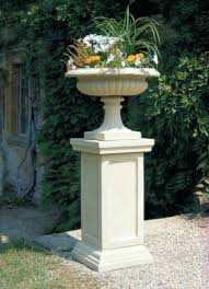garden pedestal. Plastic Pedestal Planters Garden Tall High Stone Decoration Outside Awesome Flower Pots P