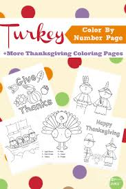 Small Picture Thanksgiving Color By Number Turkey More Coloring Pages Simple