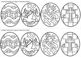 Small Picture Middle School and Junior High Easter Eggs Coloring Page challenge