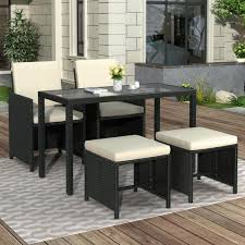 5 piece wicker outdoor dining set