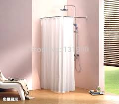 stainless steel shower curtain rod l shape shower curtain pole easily assemble scp l