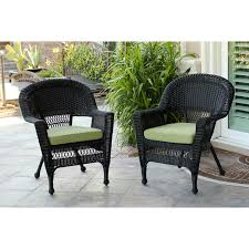 jeco wicker chair with cushion hayneedle
